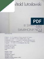 Lutoslawski - Symphony No.3 - 1985