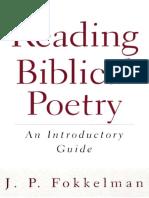 Westminster John Knox Press - J. P. Fokkelman - Reading Biblical Poetry, An Introductory Guide