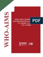 WHO AIMS Informe Sobre Los Sistemas de Sald Mental en AL y Caribe