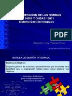Interpretación ISO 14001-OHSAS 18001