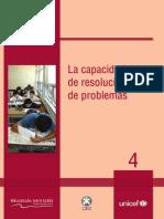 Pulfer, Unicef. Cuader 4 La Capacidad de Resolución de Problemas 2010
