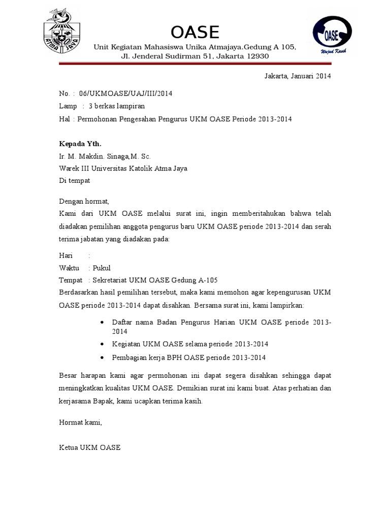 Surat Permohonan Pengajuan Sk Bph