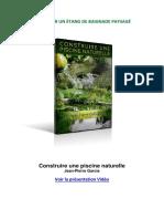 ConConstruire une piscine naturelle par Jean-Pierre Garciastruire Une Piscine Naturelle - Jean-Pierre Garcia