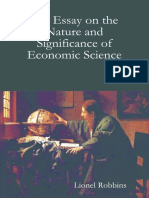 Essay on the Nature and Significance of Economic Science--LR