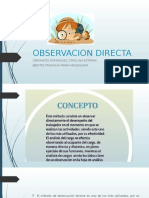 Observacion Directa