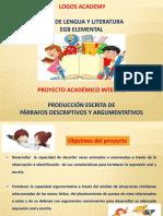 Producción de párrafos descriptivos y argumentativos -1