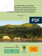 Fiji Environmental Law Association et al ~ An Analysis of International Law National Legislation Judgements & Institutions as they interrelate wth Indigenous Peoples & Local Communities - Sept 2012