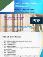 PRG 420 GENIUS Education Expert / prg420genius.com