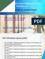 PSY 103 ASSIST Education Expert / psy103assist.com