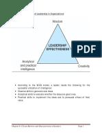 WICS Model of Leadership