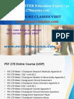 PSY 270 MASTER Education Expert / psy270master.com