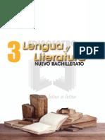 Lengua y Literatura Nuevo Bachillerato 3