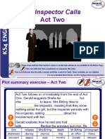An Inspector Calls Act Two Ppt