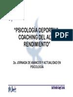 Psic Deportiva Coaching Alto Rendimiento U