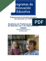 Programa para la atención educativa del alumnado  con TDAH