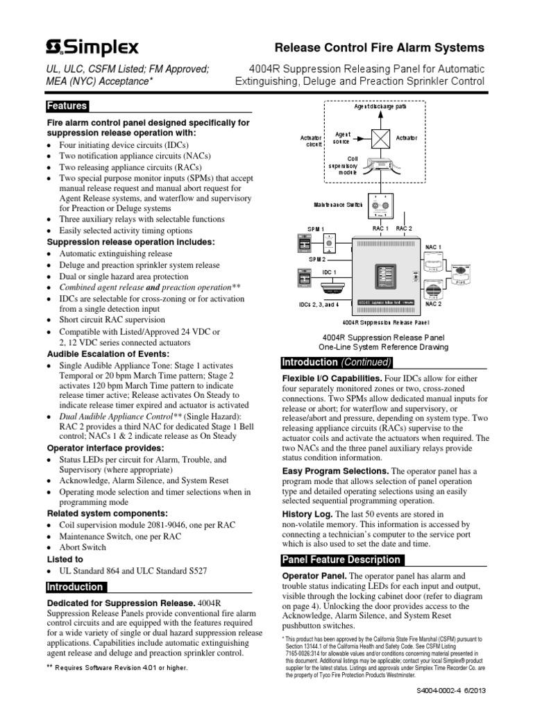 simplex 4004r fire sprinkler system relay ford standard transmission diagrams simplex 4004 wiring diagram #14