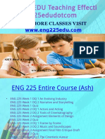 ENG 225 EDU Teaching Effectively Eng225edudotcom