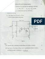 Analog Electronics Questions