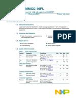 NXP Semiconductors PSMN022 30PL,127 Datasheet
