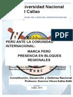 Peru Ante La Comunidad Internacional, Marca Peru, Presencia en Bloques Regionales