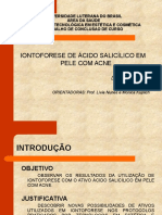 Iontoforese de Ácido salicílico em Pele com Acne