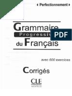 288868933Grammaire Progressive Perfectionnement Grammaire Progressive Perfectionnement Corriges 2012