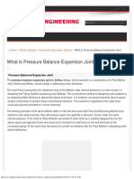 What is Pressure Balance Expansion Joint