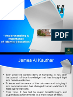 Understanding & Importance of Islamic Education