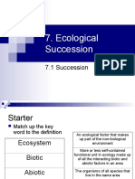 Succession edexcel biology