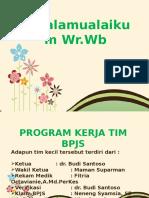 Presentasi Program Kerja Tim Bpjs