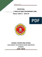 Proposal Pengajian Maulid Nabi Muhammad 1436 h - 2015 m