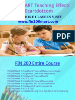 FIN 200 CART Teaching Effectively Fin200cartdotcom