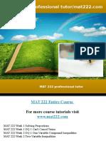 MAT 222 Professional Tutor