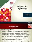 Chapter 9– Organising