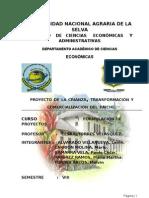 Proyecto de Crianza Transformacion y Comercializacion de Paiche en el Peru