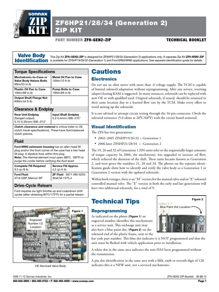 ZF6 GEN2 ZIP Mechatronic Rajzok   Manual Transmission   Valve
