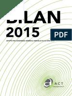 Bilan d'Activité 2015