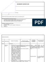 secondary lesson plan modern   contemporary