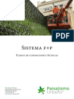 Pliego de Condiciones del Sistema F+P para la construcción de Jardines Verticales