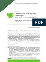 BLOCH Maurice_Durkheimian Enthropology and Religion