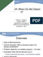 Process Drift:what do we detect it?