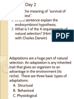 evolution days 2 and 3