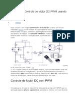 Circuito de Controle de Motor DC PWM Usando 555