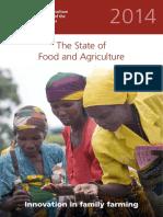 Estado de La Agricultura y Alimentación 2014 Innovación en Af