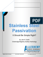 Stainless Steel Passivation