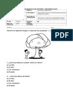 Evaluación diagnostica hsitoria 2básico