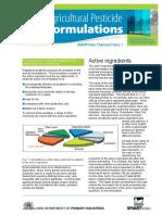 Agricultural Pesticide Formulations