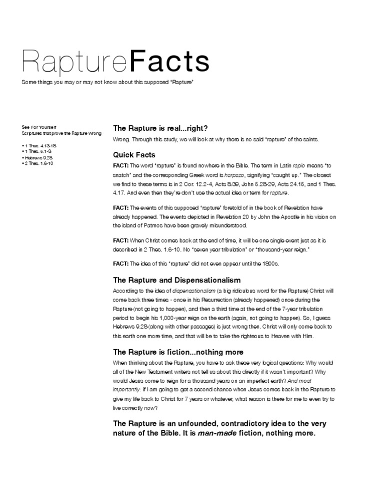 Facts about the Rapture | Rapture | John The Apostle