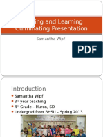 masters of teaching and learning culminating presentation