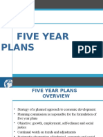Five Year Plans
